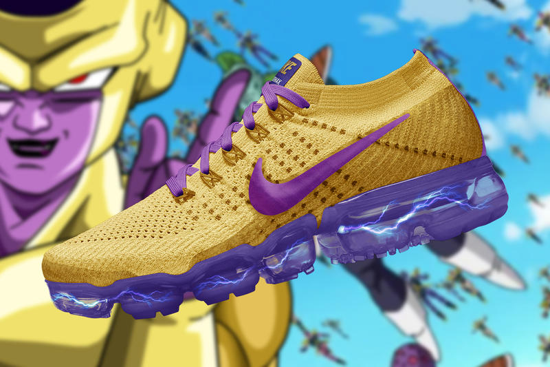 sports shoes 24c95 172e3 Dragon Ball Super Nike Air Vapormax Renders concepts the golden shape  custom romain