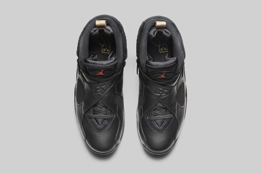 Drake OVO Air Jordan 8 Retro Black and White Sneakers Mens Shoes release info date drops February 16 2018