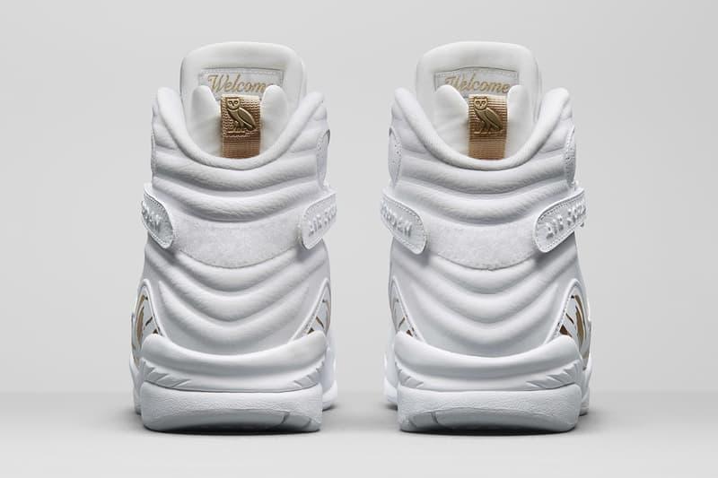 Drake OVO Air Jordan 8 Retro Black and White Sneakers Mens Shoes release info date drops February 16 2018
