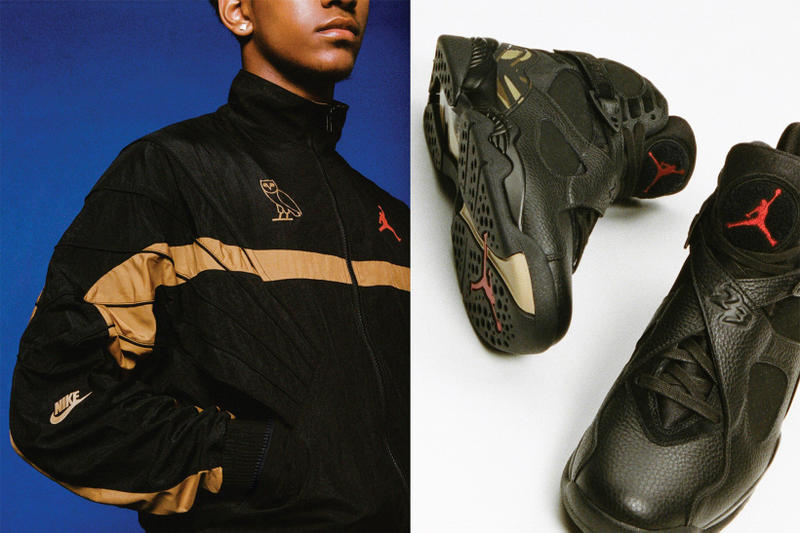 ec51c9785b7 OVO Air Jordan 8 Apparel Jordan Brand Octobers Very Own fashion february  2018 black white gold