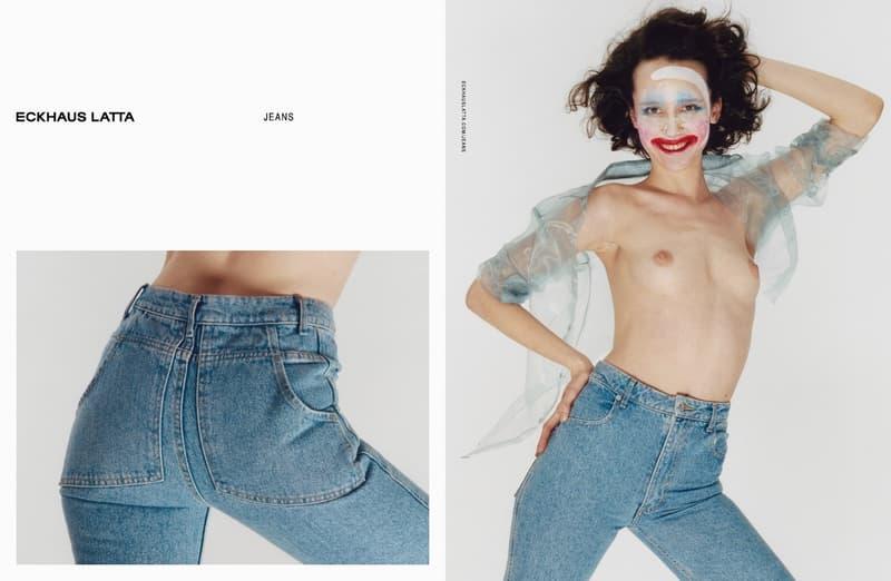 Eckhaus Latta Debut Denim Campaign Mike Eckhaus Zoe Latta Hanna Moon Jeans Lookbooks