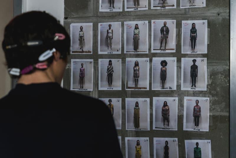 Eckhaus Latta Fall/Winter 2018 Backstage runway Behind the scenes new york fashion week