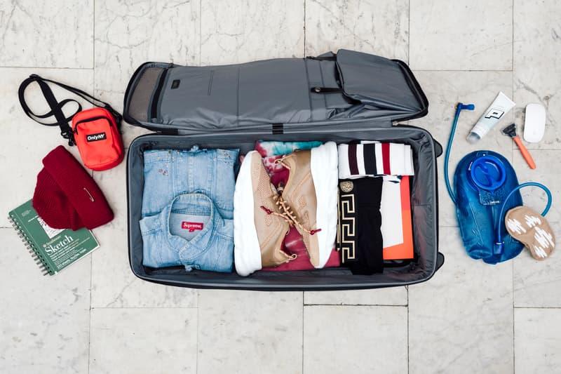 Essentials: Salehe Bembury, Versace, Footwear Designer  TUMI Merge Wheeled Duffel