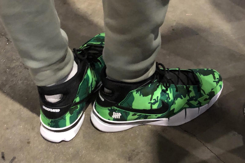 UNDEFEATED Nike Kobe 1 Protro Giannis Antetokounmpo NBA All-Star Weekend Makers of the Game Green Camo