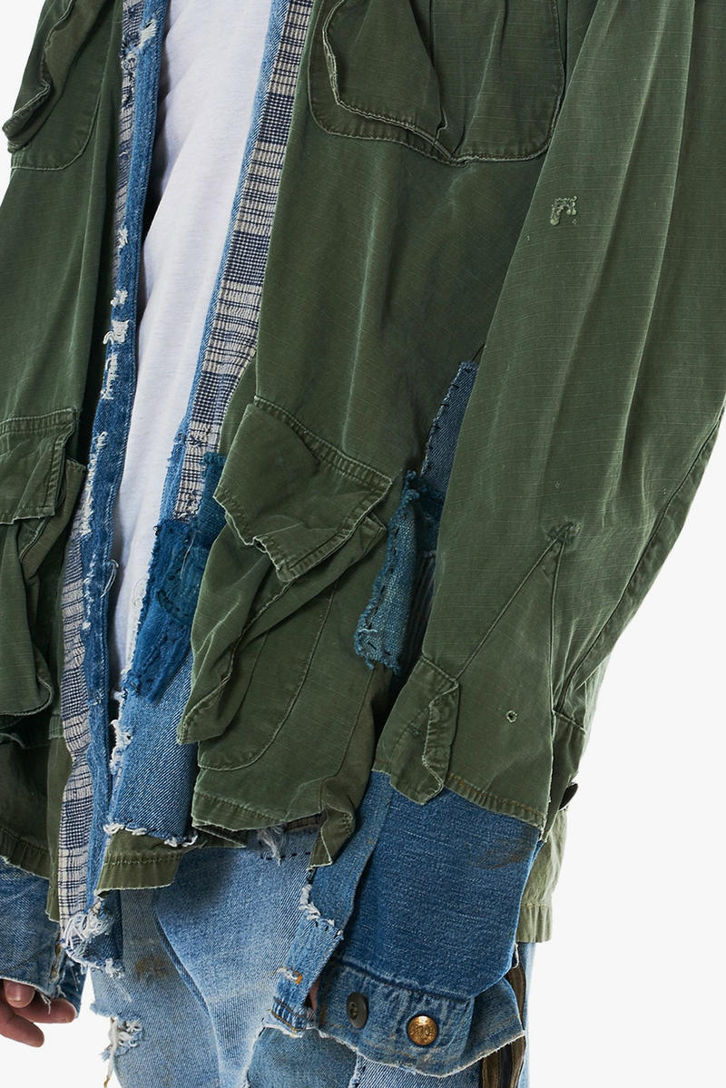 Greg Lauren Army Jungle Denim Kimono Jacket Spring Summer 2018 Release