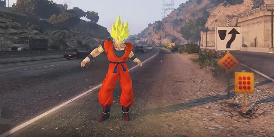 Goku Added to 'Grand Theft Auto V' by JulioNIB | HYPEBEAST