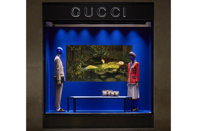 Gucci Ignasi Monreal Digital Experience storefronts windows art design 2018 spring summer campaign surreal hallucination