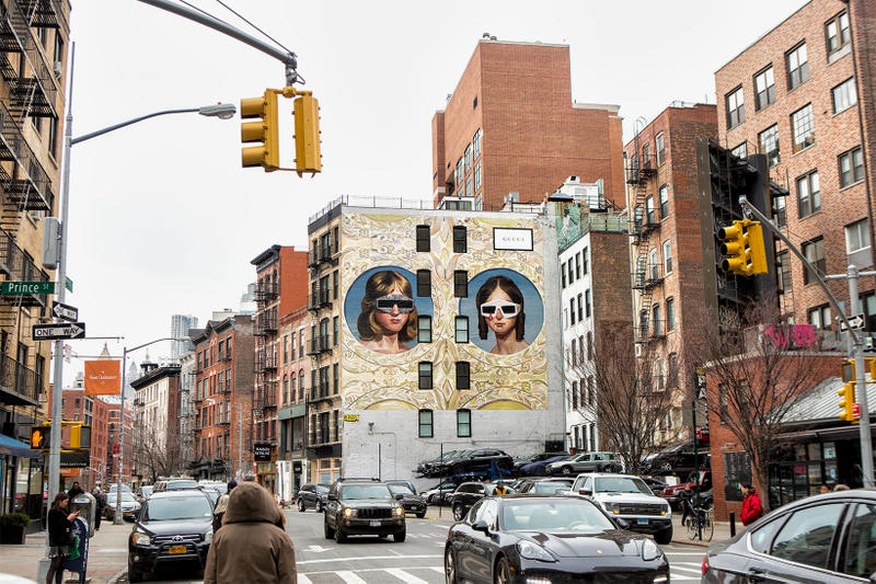Gucci New Art Walls New York City Milan Colossal MEdia Urban Vision