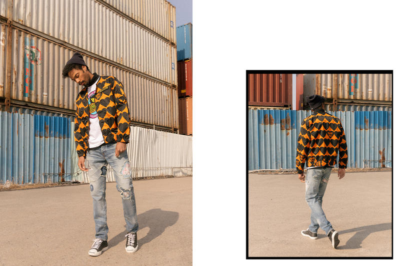 HUMAN MADE Spring Summer 2018 HBX Editorial Nigo Jacket Jeans T-shirt Pants