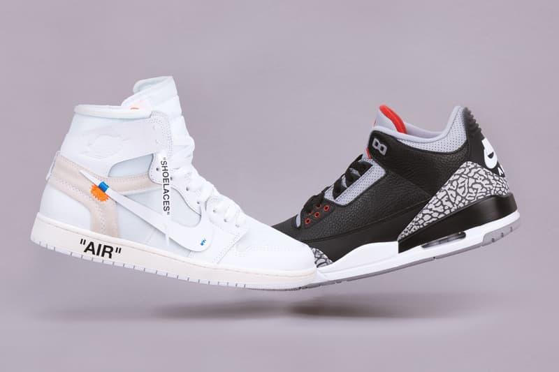 Giveaway Virgil Abloh Air Jordan 1 Air Jordan 3 Blackk Cement