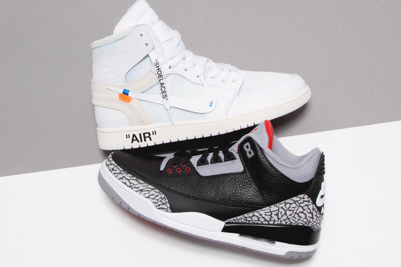 Giveaway Virgil Abloh Air Jordan 1 Air Jordan 3 Blackk Cement