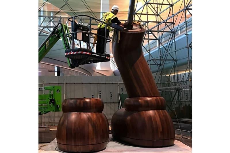 KAWS SMALL LIE Companion Qatar Museums Hamad International Airport Sculptures Installations Art Artworks