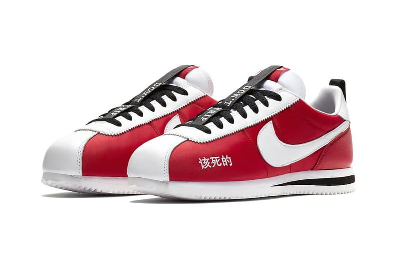 Kendrick Lamar Nike Cortez footwear Nike Sportswear red white black