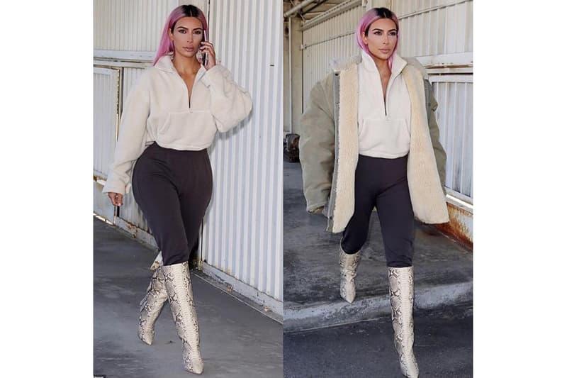 Kim Kardashian Teases YEEZY SEASON 7 Pieces Kanye West Calabasas