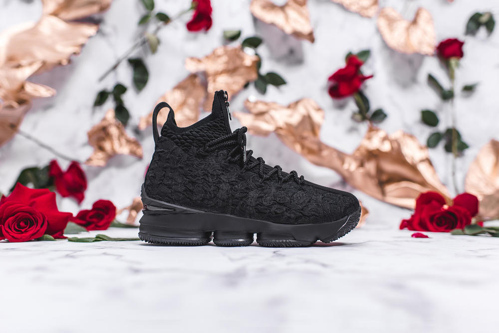 KITH Long Live the King Collection Chapter 2 LeBron James Ronnie Fieg Nike Basketball 15 xv sneakers black floral flower embroidery embroider white green gold red los angles all star weekend nba release info