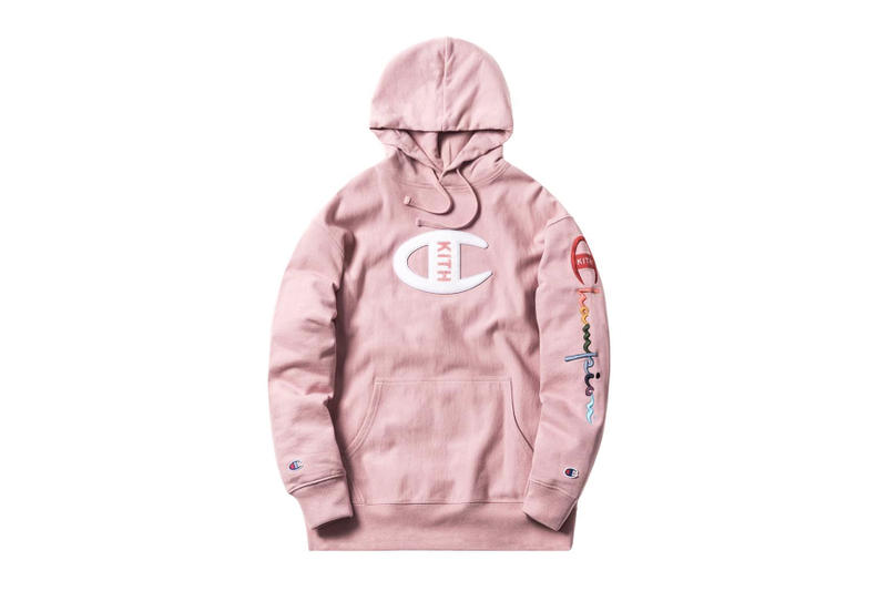 KITH Champion Collaboration Net-a-Porter Pink