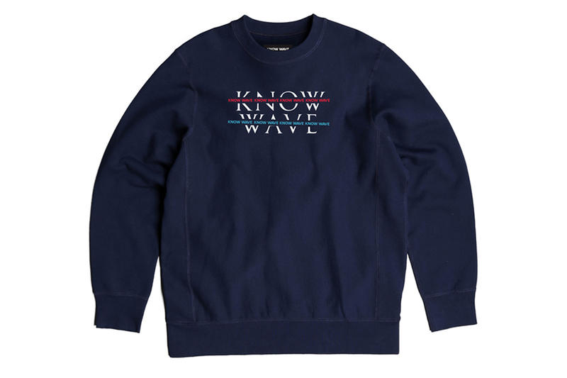 KNOW WAVE Over Under Crewneck Navy Blue Red Crew Release Info Date Drops