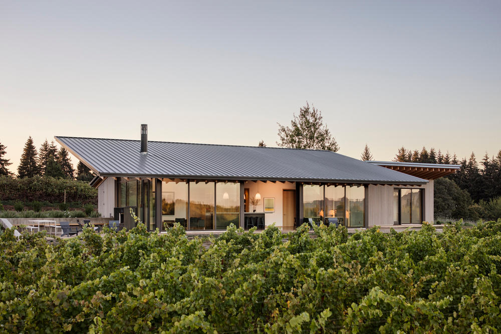 This Modern Winery Sits in the Middle of a Majestic Vineyard