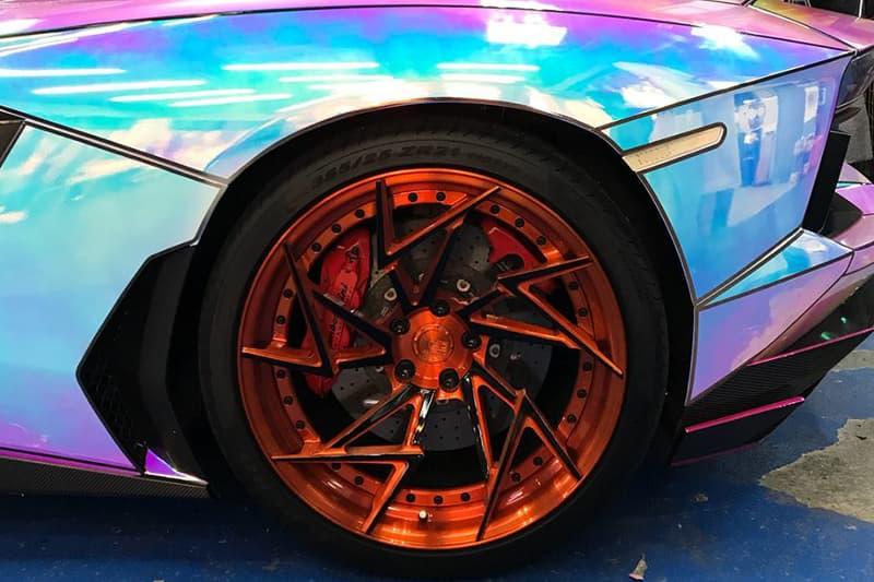Lamborghini Aventador Wrapped Hologram Supercar Custom Novitec Dreams Factory Automotive