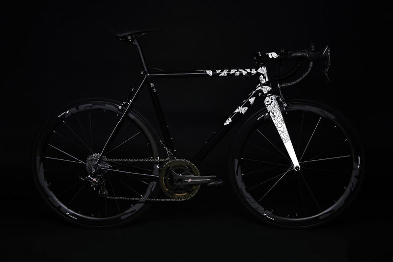 MC Escher Spoon Custom Bicycle black steel bike Black Light Art