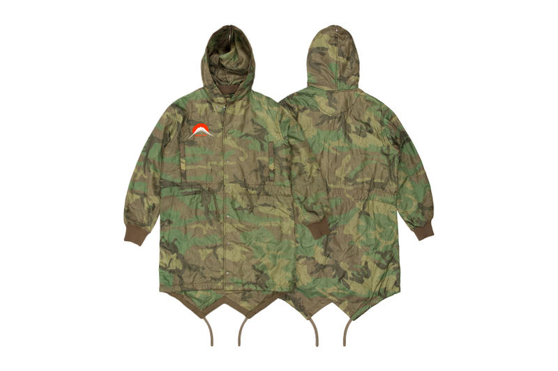 maharishi Vintage U.S. Army Camo Poncho Liners Military Garment Design Camo Spring Quilted Jacket Hood Inspector Fishtail Parka False Flag Embroidery M-51 Parka