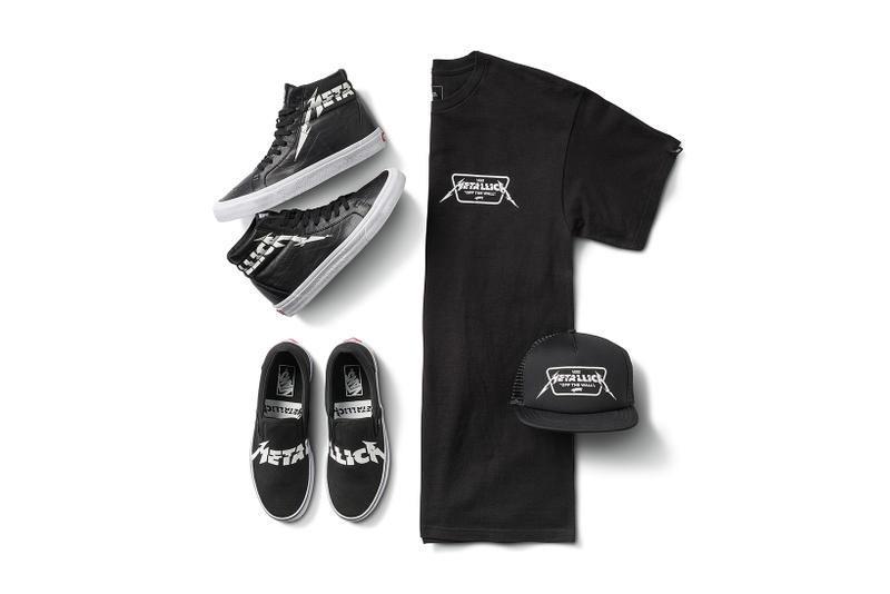91e7a3d31c Metallica Vans 2018 Spring Summer Capsule Collaboration sk8 hi classic slip  on t shirt trucker cap