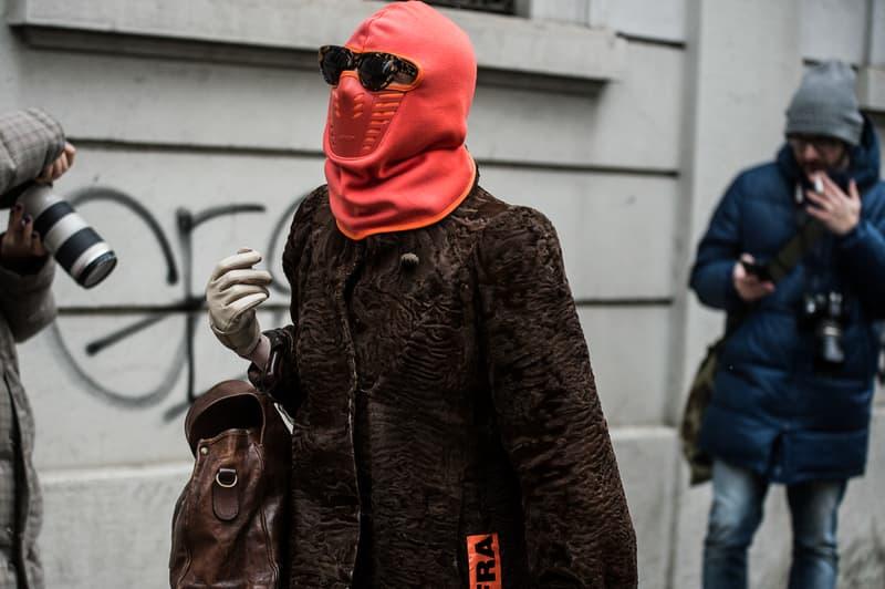 Milan Fashion Week Fall/Winter 2018 Street Style men's women's best streetsnaps