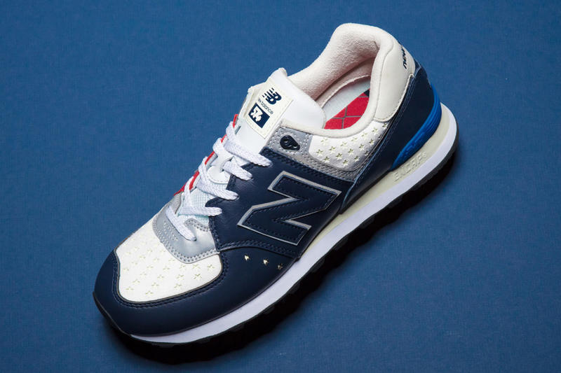 mita sneakers WHIZ LIMITED New Balance 574 Iconic Collaborations White Red Blue Stars