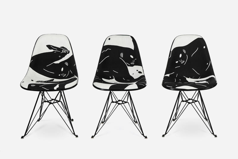 Cleon Peterson x Modernica Shadow of Men Case Study Chairs UPHOLSTERED FIBERGLASS CHAIR DESIGN A Mordern Art MCA Denver Museum Contemporary