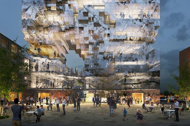 MVRDV The Milestone Crystal Rock Concept Esslingen Germany architecture design pixelated core building