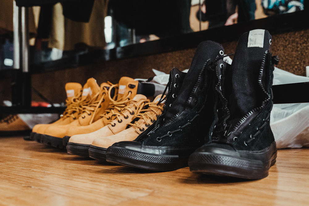 N.HOOLYWOOD 2018 Fall Winter Collection Runway timberland pro new balance porter yoshida co kaban ayame lee converse addict collaboration new york fashion week men
