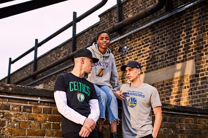 New Era NBA Shoot Your Style Apparel Capsule basketball bomber jacket sports Celtics Nets Bulls Warriors Lakers Cavaliers