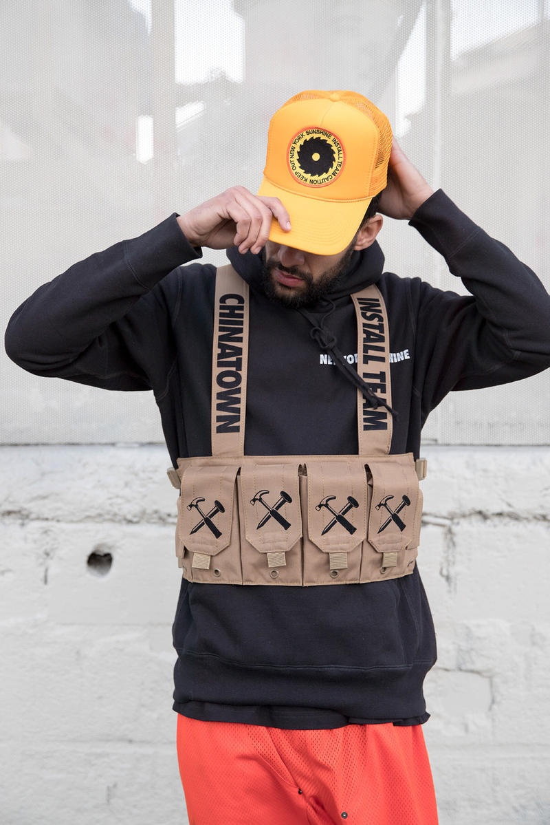 New York Sunshine Install Team drop collection release chinatown market chest rig 2018 february 23