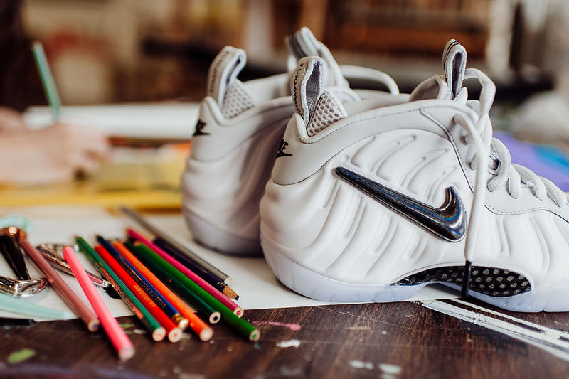 best website f4c31 4cbf8 Nike Air Foamposite Pro All Star Interchangeable Swoosh white footwear  february 2018