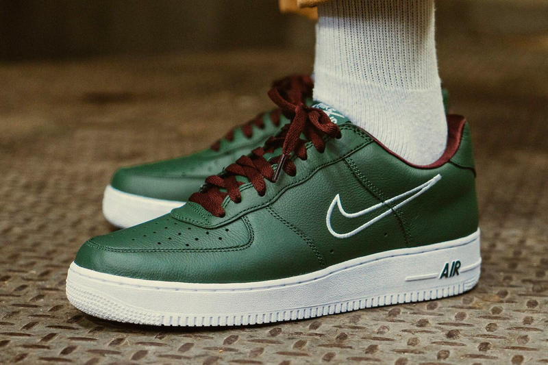 Nike Air Force 1 Hong Kong Green White Brown On Feet Look