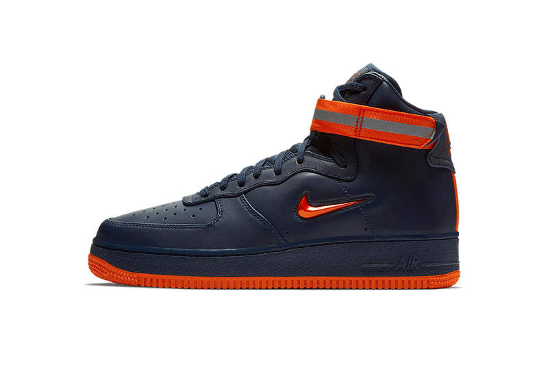 Nike Air Force 1 NYC High Mid Low obsidian brilliant orange footwear february 2018