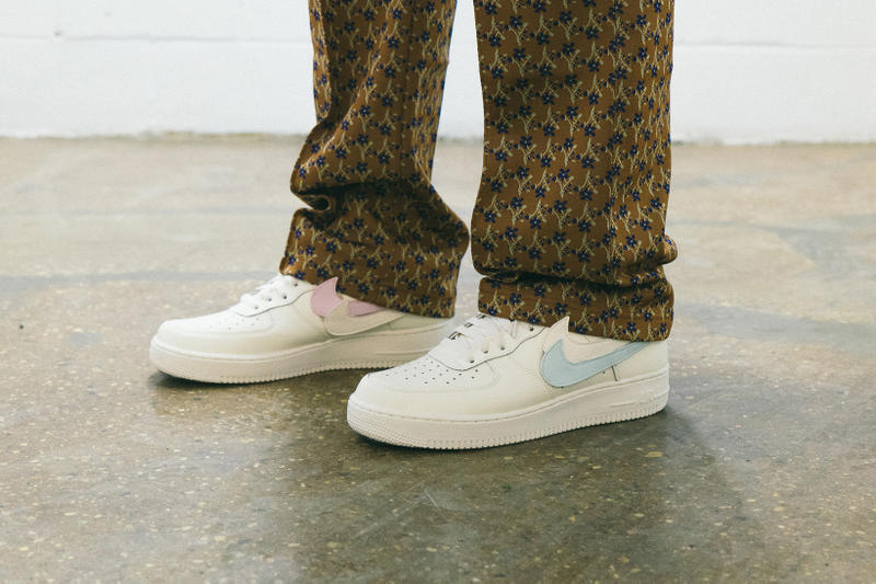 038449acd000e NIke Air Force 1 Swoosh Pack On Foot Sail footwear february 2018