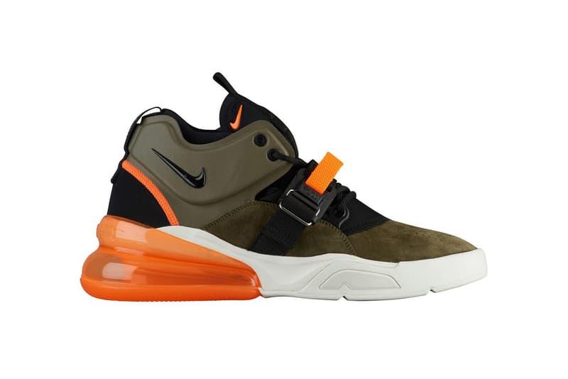 Nike Air Force 270 Flight Jacket olive green orange white black 2018 february release date info spring summer sneakers shoes footwear