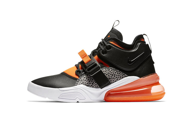 36c6555eb5 Nike Air Force 270 Safari Official Release Date black hyper crimson wolf  grey white 2018 february