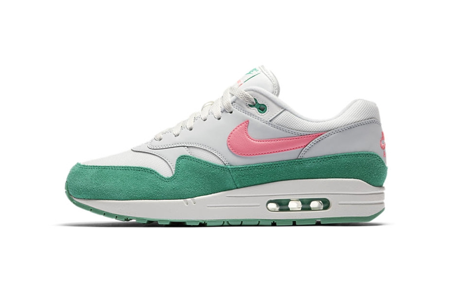 Nike Air Max 1 in Grey/Pink/Green