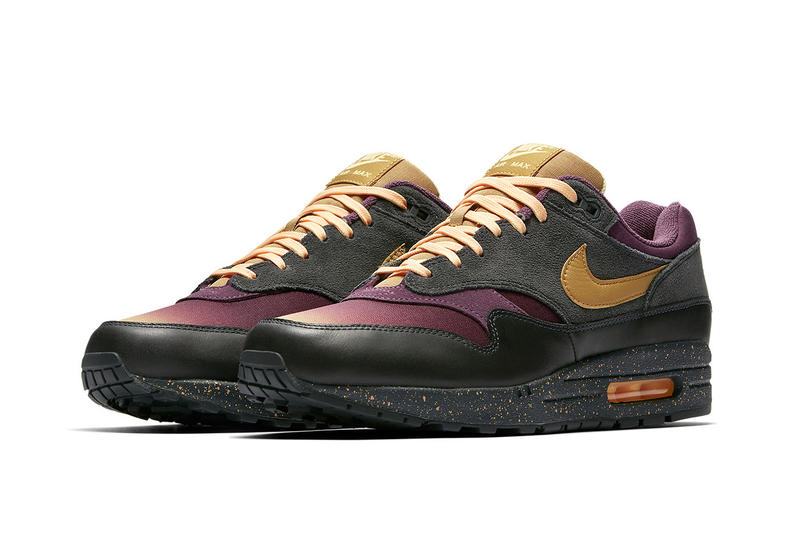 Nike Air Max 1 Fade Pack Anthracite Pro Purple Tangerine Tint Elemental Gold