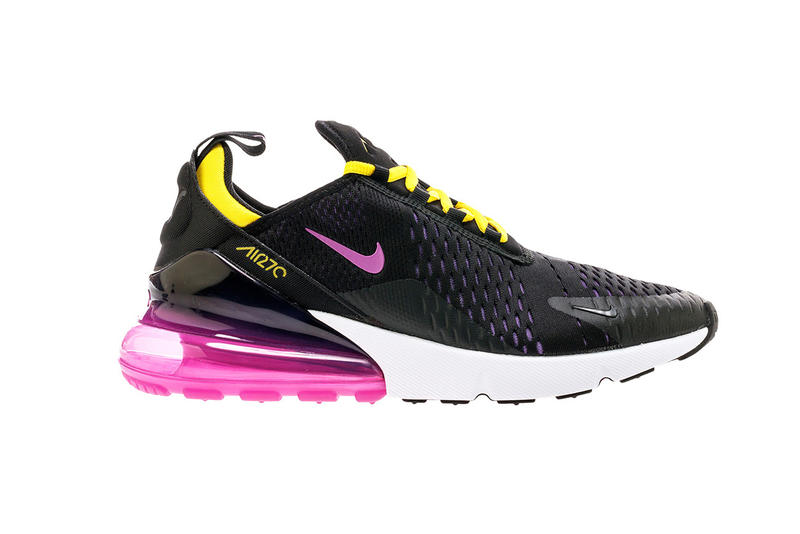 Nike Air Max 270 Magenta Gold Sneakers Sports Sportswear Training Running Soccer Shoes Basketball Footwear Mens Womens Fashion