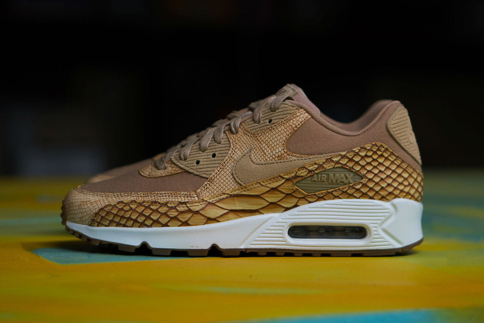 brand new 2e4f1 06334 The Nike Air Max 90 Premium Receives a Snakeskin Upgrade