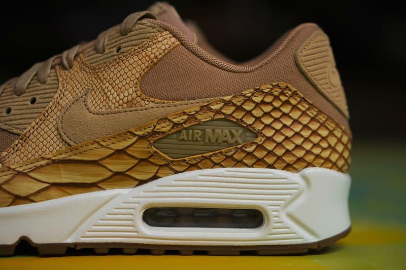 the best attitude 6f7eb e0da8 Nike Air Max 90 Premium Reptile Leather Shoe closer look