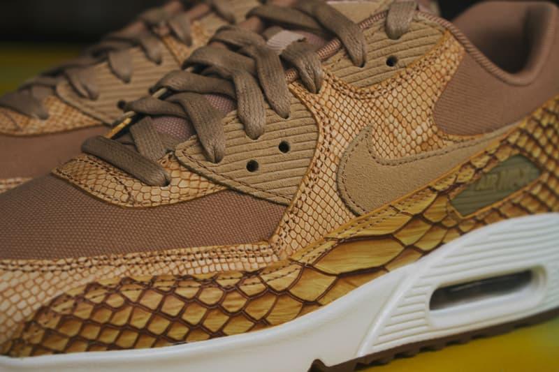 Nike Air Max 90 Premium Reptile Leather Shoe closer look