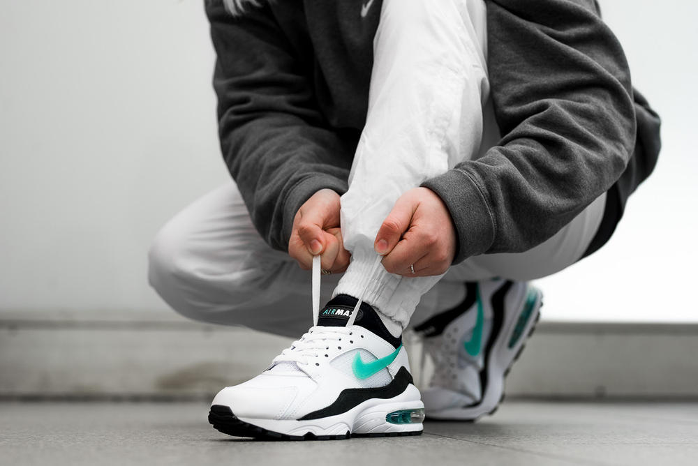 Nike Air Max 93 OG Dusty Cactus On Feet 2018 february 2 release date info sneakers shoes footwear white sport turquoise black 306551 107 overkill berlin germany