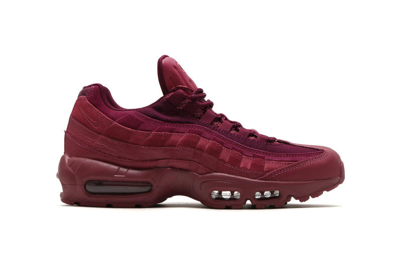 best authentic 07b4c d7d57 Nike Air Max 95 Premium Wine Triple Black Vintage Wine Footwear Shoes  Sneakers release date drops