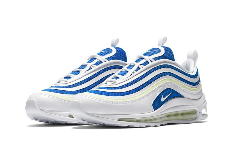 Nike Air Max 97 Ultra Sprite footwear neon blue white 2018 runners sneakers