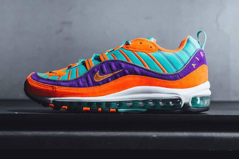 e95c7946e5 Nike Air Max 98 QS Turquoise Orange Purple 2018 February release date info  sneakers shoes footwear