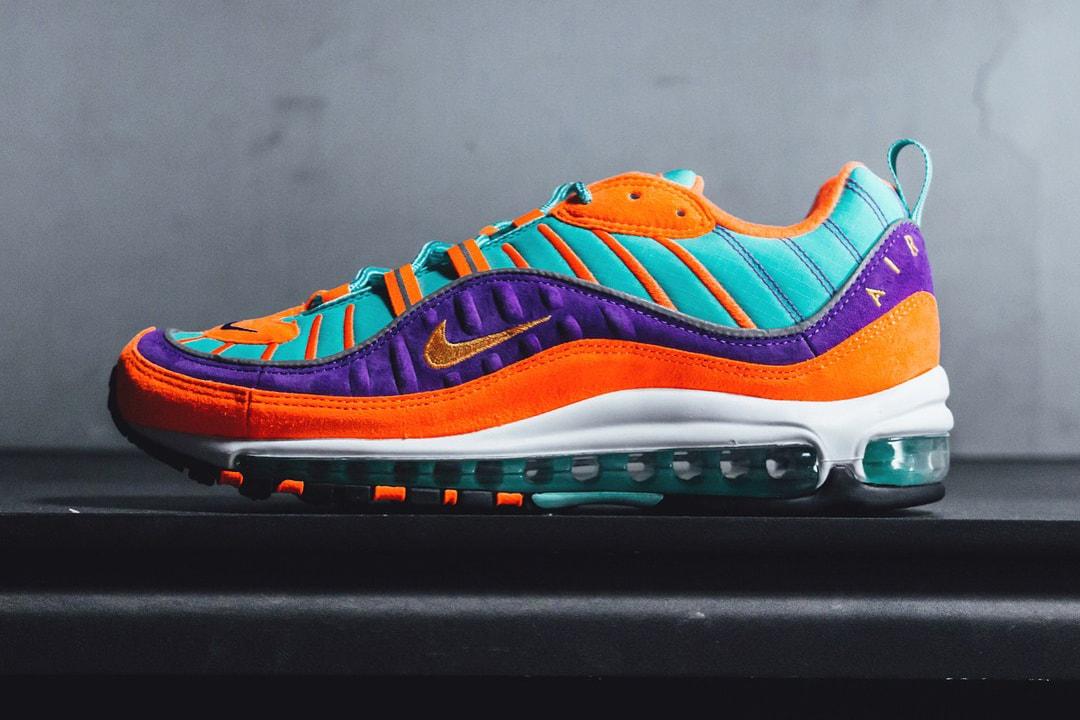 láser Bergantín una taza de  Nike Air Max 98 QS in Turquoise, Orange & Purple   HYPEBEAST